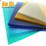 Feuille givrée colorée de toiture de cavité de polycarbonate de Jumeau-Mur avec la protection UV