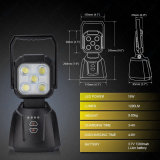 15W 1200lm携帯用再充電可能なSos機能LED作業ライト