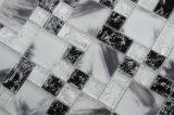 جميل تصميم بيضاء [بلك يس] طقطقة [موسيك تيل] زجاجيّة