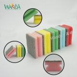 Специальный цвет пенной очистки кухни очистки губки рукой удерживать губки с абразивным покрытием губка