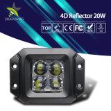 4D luz auto del trabajo de la inundación campo a través brillante estupenda 12V 20W LED