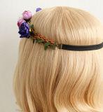 毛のための最新のデザイン花の花輪のヘッドバンド