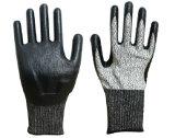 13G Hppe Schnitt-Widerstand-Sicherheits-Handschuh mit Nitril beschichtete