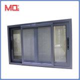 Finestra di scivolamento di alluminio di vetro di profilo termico della rottura con la rete di zanzara