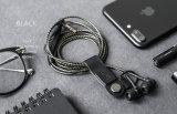 Mec PU Auricular Clip en Estilo Libre, Organizador de cables del auricular personalizado