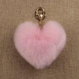 Piel POM del conejo del Faux de la cereza para el precio barato de los regalos de la promoción