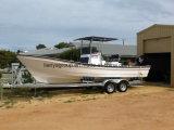 Liya 25FT bateau de pêche de luxe de cabine de fibre de verre de moteur de 10 personnes