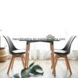 Presidenza di plastica della sala da pranzo moderna con il piedino di legno