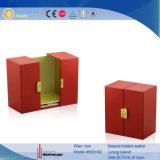 Haut de gamme de vin en bois rouge Case Afficher boîte cadeau (5691R2)