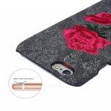 для вышивки случая iPhone 7 добавочной, iPhone 7 аргументы за телефона классицистической кожи Rose вышивки 3D мягкой Coated добавочное