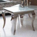 Moderne Louis van het Meubilair van het Huis Eettafel die met de Super Witte Bovenkant van het Glas wordt geplaatst