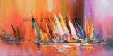 Estilo nórdico Pinturas al Óleo sobre lienzo navegar en el mar para la Decoración de pared