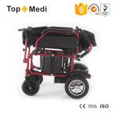 Topmedi personalizou a cadeira de rodas de dobramento elétrica psta da cadeira de roda da potência