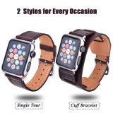 Balcão Único vintage e faixa de relógio em pele genuína do manguito para Apple