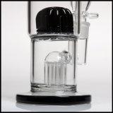 Tubulação de água de vidro de fumo fundida do bebedoiro automático do cachimbo de água do Percolator dos braços de Perc 8 mão dobro