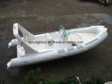 Barco inflable rígido de la consola de centro del barco de pesca de la fibra de vidrio de Liya los 6.2m