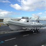 Le bateau de passager de bateau de pêche de cabine de Liya 8.3m rapidement nervure la vente