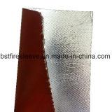 고열 단열 보호 알류미늄으로 처리된 실리콘 입히는 섬유유리 직물