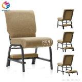 Foshan-Fabrik-bequeme stapelbare Metallkirche-Stühle