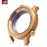 Caixa de relógio Electroplated do aço inoxidável do ouro de Rosa da elevada precisão
