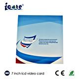 주문 소형 7inch LCD 영상 브로셔 명함 영상 인사장