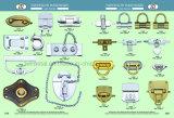 Freie Beispielbeutel-Licht-Goldkippen-Verschluss