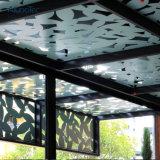 Panneau ondulé en aluminium de plafond décoratif en métal de bureau