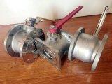 L'acier du carbone intègrent le robinet à tournant sphérique de la bride 1PC