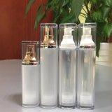 OEMの贅沢な正方形の二重層の高品質の空気のない液体の下地クリームのローションのびん