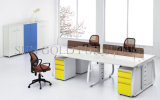 Divisor de 4 asientos de madera modulares lineal Estación de trabajo (SZ-WST658)