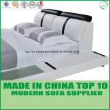 Кровать самомоднейшей спальни Дубай реальная кожаный