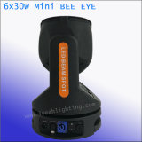 6X30W LED 이동하는 맨 위 소형 꿀벌은 빛을 주목한다
