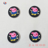 Schwein-Karikatur Belüftung-Gummiabzeichen für Kind-Kleidung