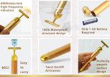 아름다움 계기 24K 금 아름다움 바를 전송하게 24K 황금 집에서 만드는 쉬운 진동하는 펄스 주름 제거 안면 성형