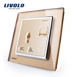 Sortie de plot multifonctionnelle de panneau à la maison sec en verre Tempered de Livolo Vl-W2z1c-11/12/13