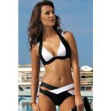 Reizvoller gedruckter Blumenbadeanzug der Sommer-Frauen, einteiliger Badeanzug-Backless Bikini-BadebekleidungBeachwear