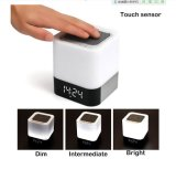 Диктор экрана касания светильника света СИД ночи карточки TF высокого качества с будильником