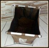 Sola cesta de lavadero sucia, rectángulo 600d Oxford con el marco de aluminio