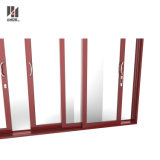 Aluminio de alta calidad personalizada puerta corrediza de aluminio, Puerta de acordeón, Patio de aluminio puerta metálica puerta Forcommercial y edificio de viviendas