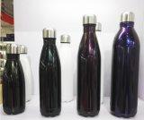 9 17 flacons de vide de thermos de cadeau de Noël de tasse de café de course de sport d'acier inoxydable de bouteille d'eau de kola de bosse de 25oz 500ml