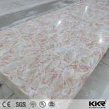 Surface de solide de décoration intérieure de pierre de panneau de résine de couleur de Vening