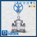 Didtek muore la valvola a saracinesca a temperatura elevata d'acciaio con l'operatore dell'attrezzo di vite senza fine