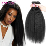 Yvonne 머리 도매 브라질 머리 Virgin 머리 사람의 모발 연장 비꼬인 똑바른