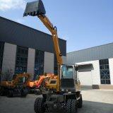 Type de roue hydraulique mini-excavateur creuser la Machine avec pince de rotation