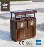 Le bois composite en plastique poubelle pour mobilier extérieur