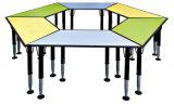 아이들은 의자 다채로운 꽃 모양 연구 결과 테이블로 탁상에 놓는다