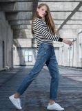 2017 donne dei jeans delle donne di modo comerciano lo stile all'ingrosso del foro delle signore dei pantaloni dei jeans