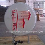 Visualización publicitaria Thermoformed de acrílico del departamento del rectángulo ligero del LED