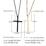 형식 금 보석 선물 스테인리스 보석 십자가 목걸이