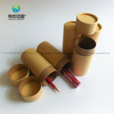 Rectángulo redondo de Kraft del precio bajo del papel de la cartulina de encargo del tubo en China